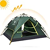Fourth-Generation Automatic Hydraulic Tent for 2-3 Person Outdoor Waterproof UV Protection 4 Season Camping Tent (Green#3)