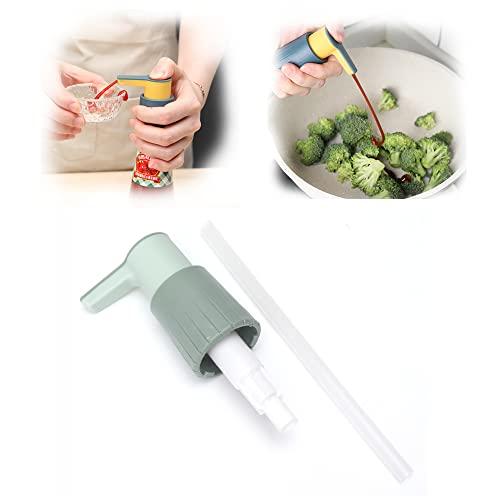 Dispenser per salsa di ostriche, Dispenser a pompa per salsa, Ugello a tenuta di pressione a pressione a pressione, Adatto per salsa di pesce condimento per insalata di ketchup (Verde)