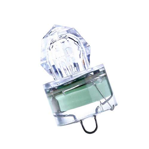 Pesca del Señuelo Led De La Lámpara, Forma del Diamante Deep Drop Lámpara De La Pesca Calamar Luz Estroboscópica para Marino Deep Sea Caída - Verde