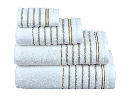 Sunshine Linens Juego de toallas de 10 piezas 4 toallas de cara s/úper suave y altamente absorbente 100/% algod/ón egipcio azul marino de lujo 4 toallas de mano y 2 toallas de ba/ño