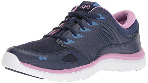 Ryka Women's Element Walking Shoe, Blue/Lilac, 7.5 M US