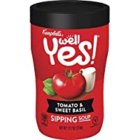 8-Pack Campbell's Well Yes! Tomato & Sweet Basil Sipping Soup 11-Oz