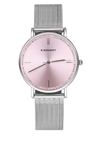 RADIANT Damen Ehering 36 mm Light Pink DIAL SS Mesh - RA541601