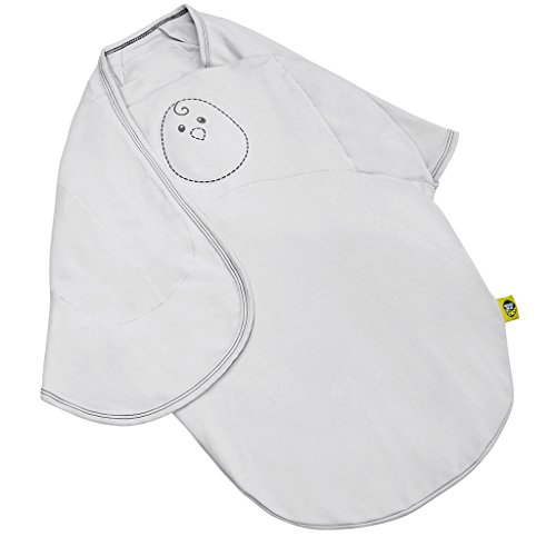 Nested Bean Swaddle - 2-in-1 Size Classic Zen Swaddle  Weighted Swaddle Blanket to Mimic Mother's Touch and Grow with Baby. 0 to 6 Months. Up to 29