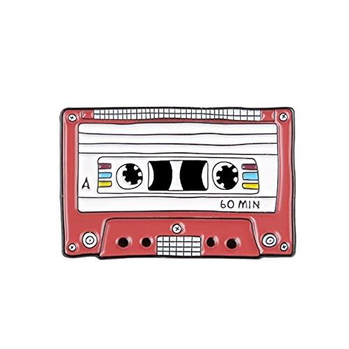 90-tals musik tejp emalj pin vintage nostalgisk bästa sång broscher för väska kläder slag nål gammaldags märke smycken present vänner
