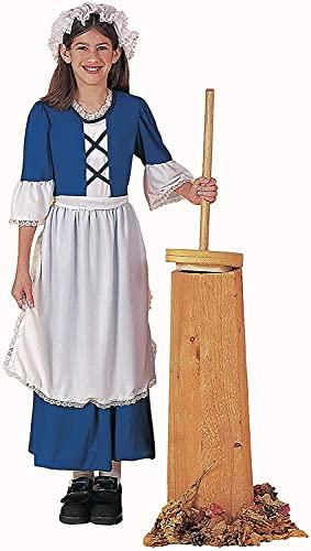 Forum Novelties Child's Colonial Girl Costume Dress, Large