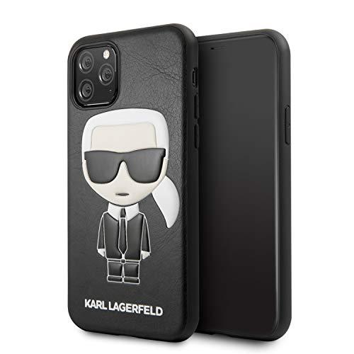 Karl Lagerfeld KLHCN58IKPUBK Embossed Cover for iPhone 11 Pro, Black