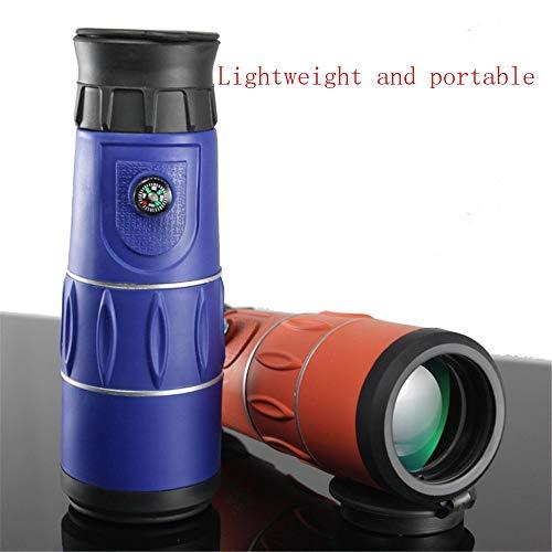 Yaozb Monocular de Alta definición de Alta definición clarividente telescopio de Gran Angular de visión en la Penumbra Nocturna 26X52 (Color : Blue)