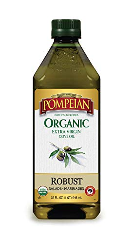 Pompeian USDA Organic Extra Virgin Olive Oil, First Cold...