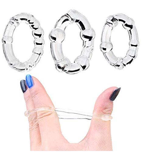 3 anelli in silicone trasparente di alta qualità.