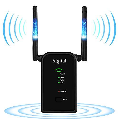WLAN Repeater 300Mbit/s WLAN Signal Verstärker AP Booster Range Extender kompatibel mit jedem Routern/Modem(Fast Ethernet Port, WPS, 802.11 B/G/N, 2.4GHz)