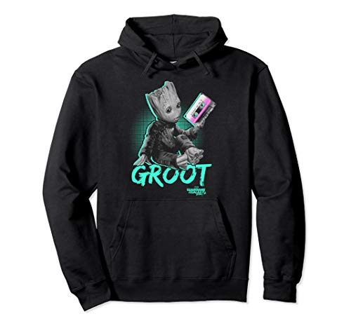 Marvel Guardians Of The Galaxy Groot Tape Portrait Pullover Hoodie
