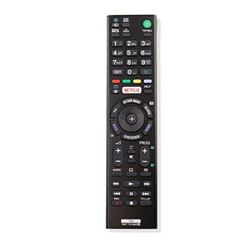 VINABTY RMT-TX100D Ersatz Fernbedienung für Sony TV KD-75X8501C KDL-40HX720 KDL-55W756C KD-65X850xC KDL-55W80xC KDL-75W855C KDL-46HX820 KDL-32EX524 FW-75X8570C FW-43X8370C KDL-65W855C KDL-32EX723