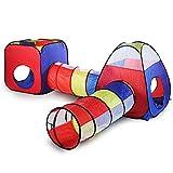 Carpas Y Túneles De Casa De Juegos para Niños 4 En 1,Tienda De Campaña para Niños Pequeños Gym, Juguete De Túnel De Rastreo, Bolas De Pozo NO Incluidas,Regalo Interior Al Aire Libre,A