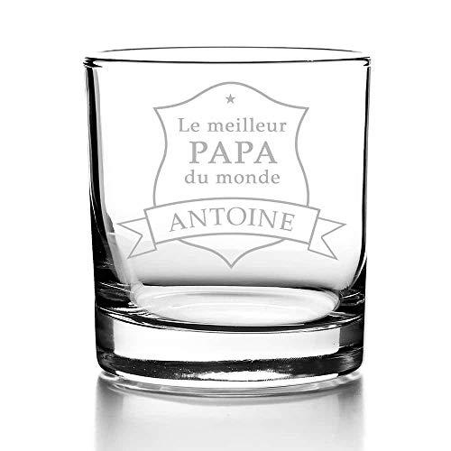 CADEAUX.COM Verre à Whisky Personnalisable du Monde