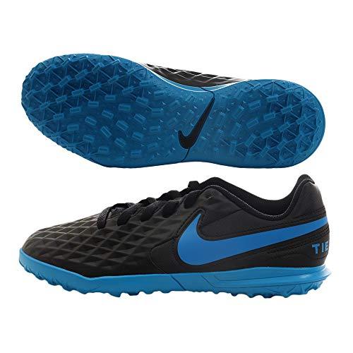 Nike Legend 8 Club TF, Zapatillas de Fútbol Unisex Niños, Negro (Black/Blue Hero 004), 37.5 EU