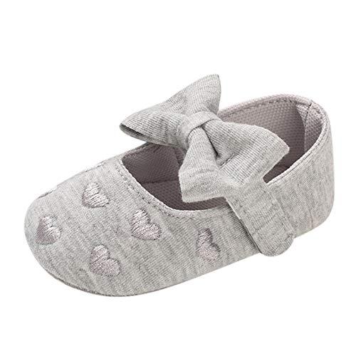 JERFER Neugeborenes Kleinkind Kinder Mädchen Herz Drucken Bogen Baumwolle Schuhe Sanft Zuerst Gehen Schuhe A382
