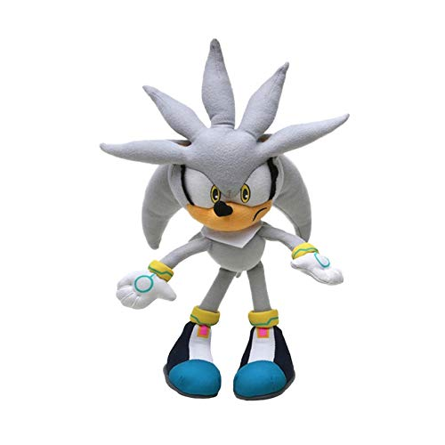 Ksydhwd Plush Toy 32cm 12.5 Silver Sonic Plush Super Sonic The Hedgehog Peluche De Juguete Sonic Toys Sonic Tails Knuckles Shadow Stuffed Dolls Llavero