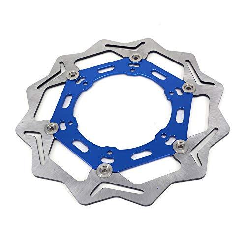 Disco de freno de motocicleta de acero inoxidable para Yamaha YZ WR 250CC 426CC WR F YZF 426CC 450CC Suzuki DRZ400 S/SE/E RM 125 250 DR-Z 250R RMX DR V/W/X DR 350 400 SY/SK DR-Z 400 Y/K Azul