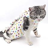 POPETPOP Tuta Professionale di Recupero Gatto Vestito Femminile da Sterilizzazione Traspirante Body Post Operatorio per Gatto