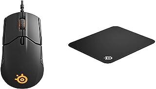 【セット買い】【国内正規品】ゲーミングマウス SteelSeries Sensei 310 Black 62432 & 【国内正規品】 QcK マウスパッド 63004