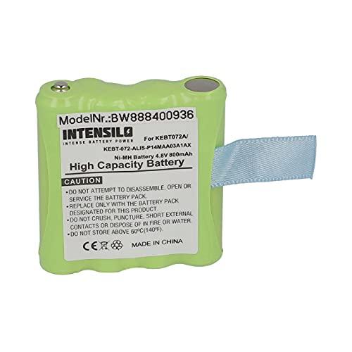 INTENSILO Batería Recargable reemplaza Motorola BP40, BP-40, IXNN4002B, KEBT072A, KEBT-072-A para Radio (800 mAh, 4,8 V, NiMH)