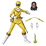 Power Rangers Lightning Collection Zeo Yellow Ranger 6-Inch Premium Collectible Action Figure Toy with Accessories, Kids Ages 4 and Up