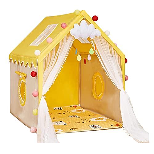 Tiendas de Niños Los Niños Juegan Carpa, Castillo De Juego Privado Cómodo Y Transpirable para Niños, Carpa para Niños Fácil De Instalar (Color : Yellow, Size : 100x130x135cm)