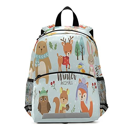ISAOA - Mochila con riendas para niños y niñas, con diseño de oso de ciervos, conejo, búho, ardilla, pájaro y zorro