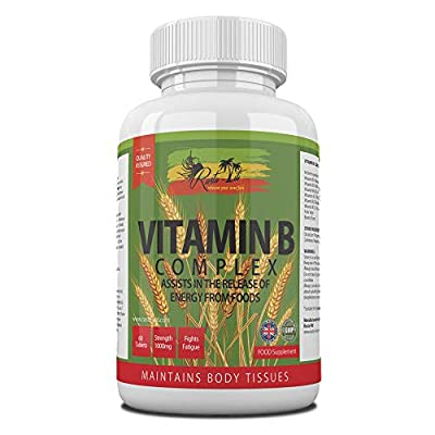 Vitamin B Complex by Rasta-Viti - FULL B SPECTRUM: B1, B2, B3, B5, B6, B7, B9, B12, with Pure Biotin and Folic Acid all in 1 Tiny Superior Quality Tablet - Incredible Energy Release Results - Reduce Fatigue and Tiredness - Improve Digestion - Made in the