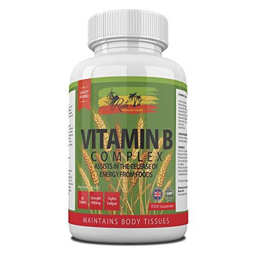 Vitamin B Complex Tablets - 8 B Vitamins per Micro Tablet - Vitamins B1, B2, B3, B5, B6, B7, B9 & B12 - High Strength VIT B Complex with Biotin & Folic Acid | Vegetarian & Vegan Supplement Made in UK