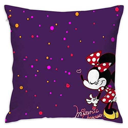 Gypsophila Pillow Cover Cushion Cover Minnie Mouse Decorative Pillow Case Sofa Seat Car Pillowcase Soft 18x18 Inch