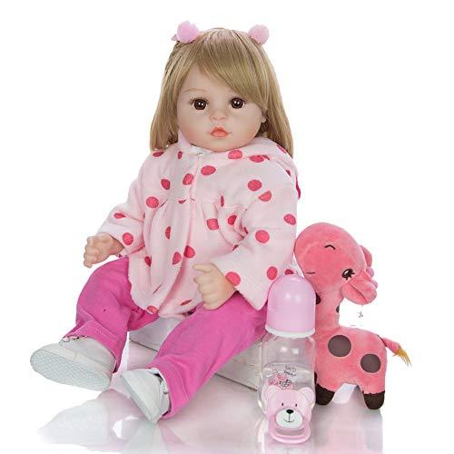 MCJL Boneca Reborn Baby Dolls, Boneca Reborn realista com silicone de simulação sentada e deitada para baixo, presente de boneca de 45 cm