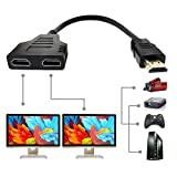 HDMI Splitter Cable, HDMI Splitter 1 in 2 Out...