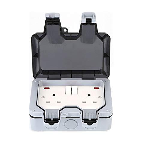 Zócalos al aire libre enchufe caja de zócalo al aire libre IP66 impermeable enchufe caja de zócalos eléctricos interruptor basculante