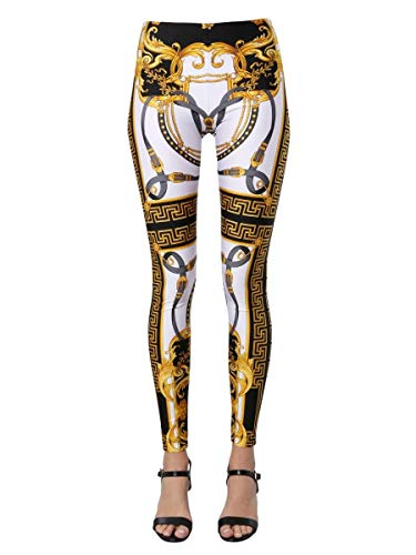 Luxury Fashion | Versace Dames A83807A233319A7001 Wit Elasthaan Leggings | Lente-zomer 20