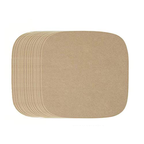 R&P 1000 Hojas de Papel Antiadherentes Cuadrado para Hornear, para Cocinar, Freidora, Barbacoa al Aire Libre,Wood Color,17.8 * 17.8 cm