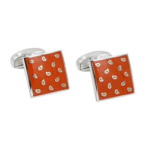 Manschettenknöpfe, Orange (inklusive Schachtel)