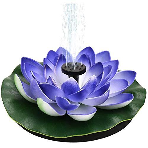 Solar Springbrunnen, Blütenblattförmiger Brunnen Solar Teichpumpe Garten Wasserpumpe Schwimmender Dekoration für Garten, Kleiner teich, Vogelbad, Fisch-Behälter