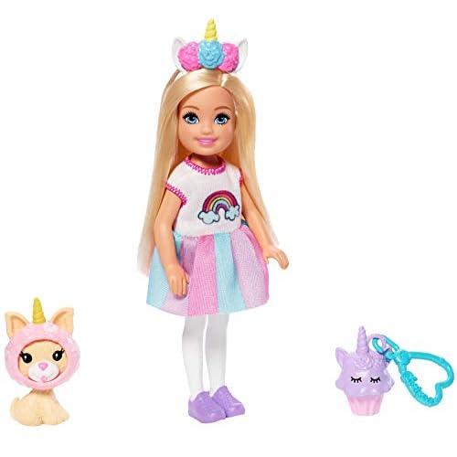 Barbie- Club Bambola Chelsea con Unicorni, Giocattolo per Bambini 3+ Anni, GHV70