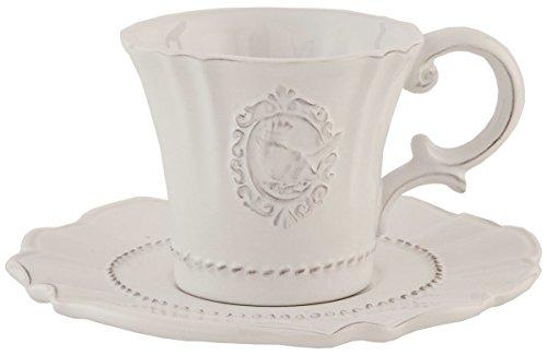Clayre & Eef 6CE0273 Kaffeetasse mit untertasse Ø 15 * 8 cm