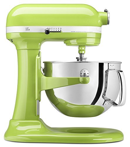 KitchenAid KP26M1XGA 6 Qt. Professional 600 Series Bowl-Lift Stand Mixer - Green Apple (Renewed)