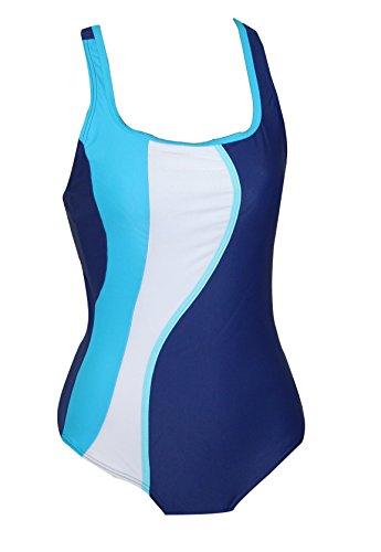 eleMar Badeanzug Bettina B-Cup blau Gr.36
