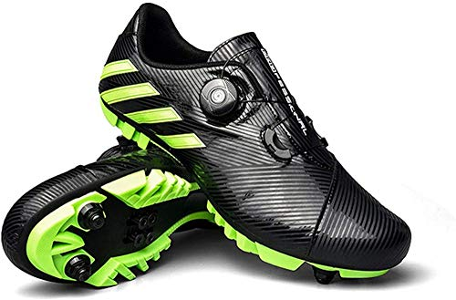 KUXUAN SPD - Zapatillas de ciclismo para hombre y mujer, ideales para bicicleta de montaña Cyclo Cross Country XC incluidas, negro-40