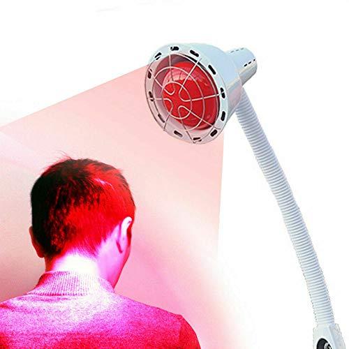 275W Infrarotlampe, Wärmelampe, Infrarotstrahler, Rotlichtlampe, 360° Universalkopf, Infrarot Strahler Wärmelampe mit Ständer, für Heimgebrauch Salon Massage