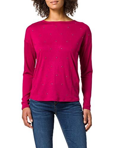 Springfield Camiseta Tachas Delantero, Naranja, L para Mujer