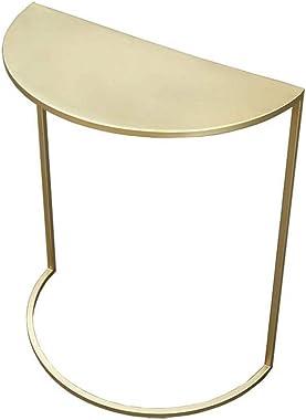 QULONG Sofa Nordic Metal Side Console Demi-Lune Table d'angle Moderne Minimaliste Fin Côté pour Petit Rangement Table pou