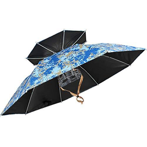 Sombrero de Paraguas para Actividades al Aire Libre Sombreros de Paraguas Ajustables para Adultos Niños Paraguas Sombrero de Sol Pesca al Aire Libre Jardinería Camping