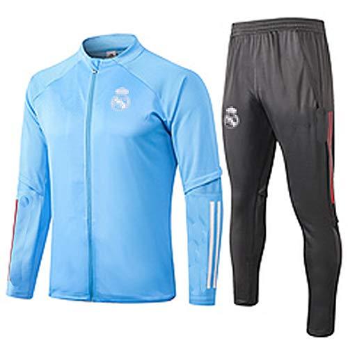 CCJJ Traje de Entrenamiento de fútbol Rěǎl MǎDrǐD ZǐDǎNě 2021 Jersey de fútbol Juego de fútbol Juego Juego de Pelota de Deportes Sportswear de Manga Larga Entrenamiento d XL