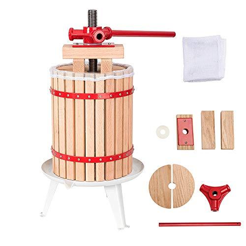 Hengda 6 L Fruta Extractor Filtro Prensador de Fruta Prensa de Jugo Exprimidor Incl. paño de prensa